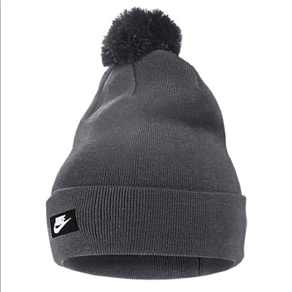 dc9ddd6a4b9 New NIKE Unisex Removable Pom Knit Beanie Hat